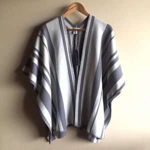 Artisan NY Wool Blend Open Poncho Sweater